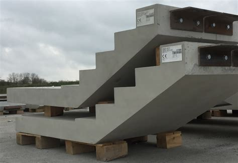 Precast Concrete Stairs Design Type B Finish Precast Stairs Provided For Bourne Business Park Flood Precast Uk