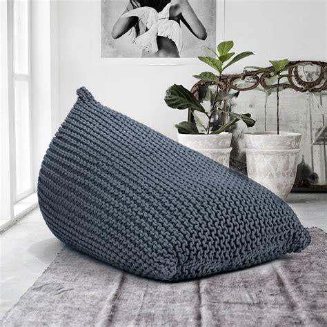 knitted bean bag knitted beanbag by grattify notonthehighstreet