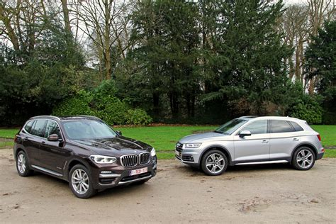 Bmw X3 Vs Audi Q5 by Audi Q5 2 0 Tdi Vs Bmw X3 20d Strijd Tussen Klonen Vroom Be