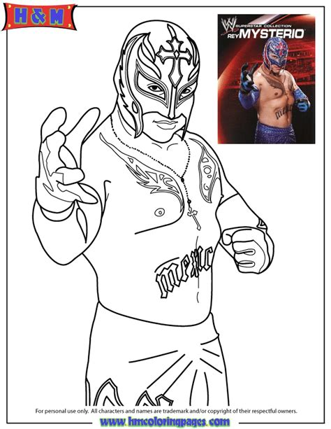 wwe coloring pages free printable get this printable wwe coloring pages rey mysterio 31189