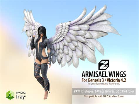 Wings Figuremainan Wings 2 armisael wings 3d figure assets zakiel29