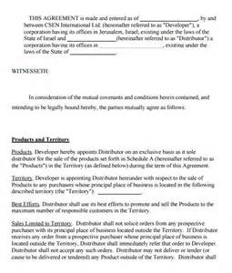 exclusivity letter template exclusivity agreement template 7 free documents