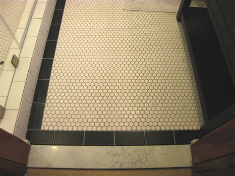 Bathroom Floor Tile White Grout White Hexagon Floor Tiles What Color Grout Did You Choose