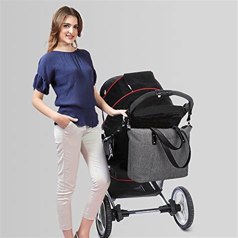 Bag Fashions Import Xs749 Gray s zone large baby tote bag with changing pad and import it all