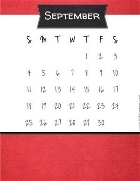 printable september  calendar customize