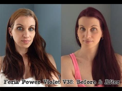 review with before and after photos loreal feria hair feria power violet v38 before after youtube