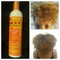 my first time using the cantu shea butter curl activator