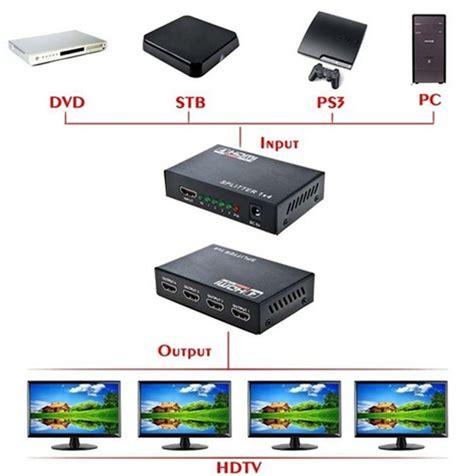 Terbaik Hdmi Splitter 1x4 Port hdmi 4 port splitter 4k 30 fps hd 60fps g 246 r 252 nt 252 fiyatı
