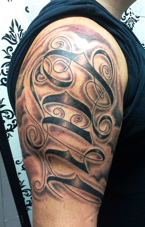 tribal filler tattoo black and grey s jefferys ing