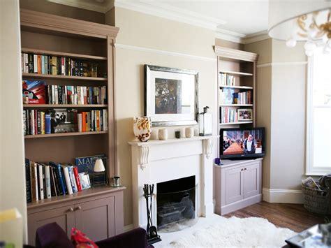 Deep White Bookcase Built In Bookshelves Bespoke Bookcases London Furniture