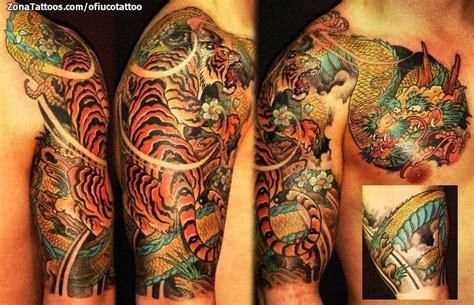 imagenes tatuajes orientales tatuaje de tigres orientales brazo