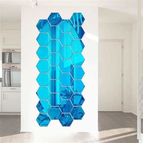 new set 6 pcs wall sticker 3d art magic picture vinyl removable home decor decal ebay 12 pcs 3d hexagonal mirror wall stickers set blue alex nld