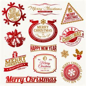 Top 10 merry christmas label design vector for free vector panic