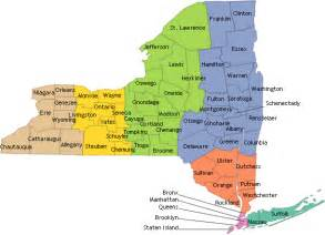 New York On A Map by Nyscr Cancer By County
