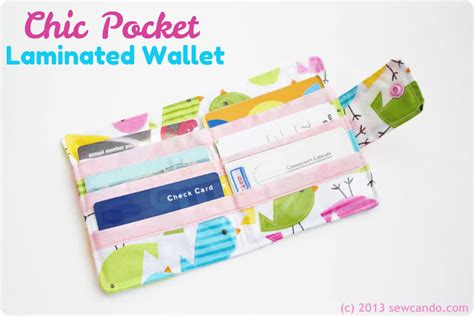 tutorial wallet fabric sew can do organize in style chic pocket laminated