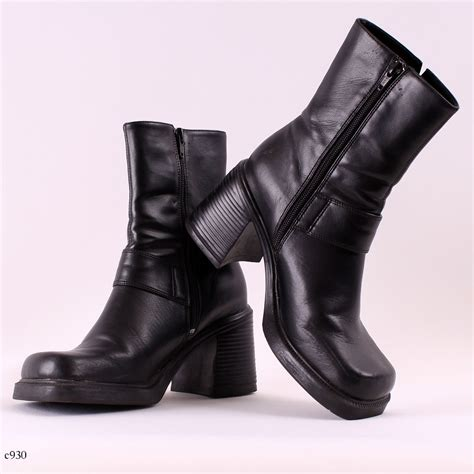 platform boots items similar to 90s platform boots black chunky boots