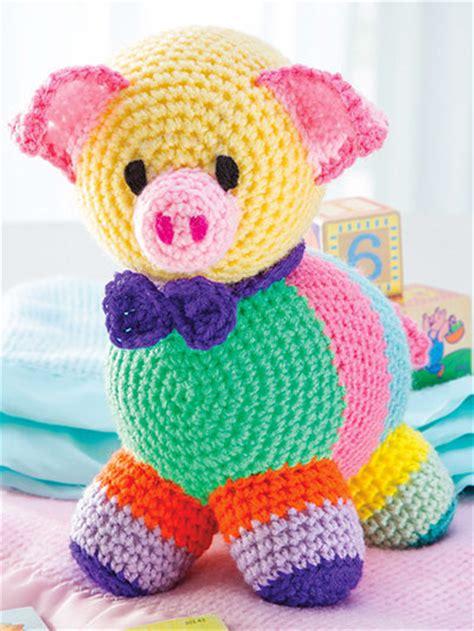 Patchwork Pig - crochet patchwork pig ec01599