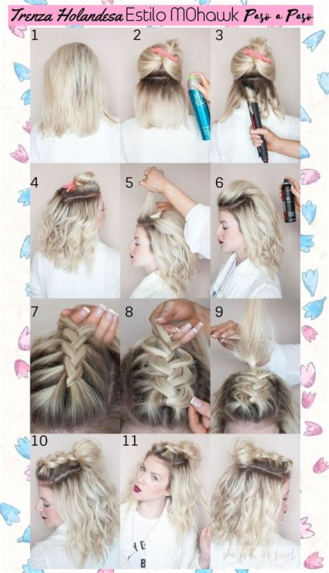 peinados paso a paso pelo corto trenzas para cabello corto paso a paso peinados lindos y