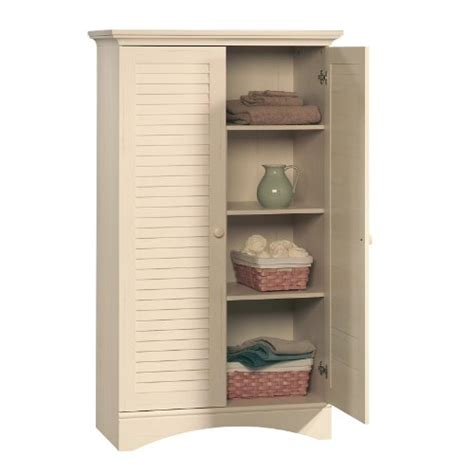 White Storage Armoire Sauder Harbor View Storage Cabinet Antiqued White
