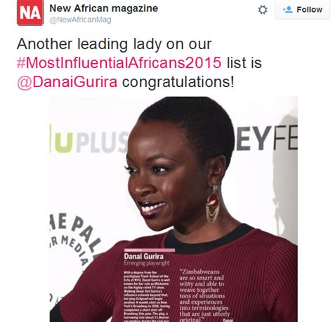 Youth Walker Komik One Producton danai gurira named one of the most influential africans for 2015 youth