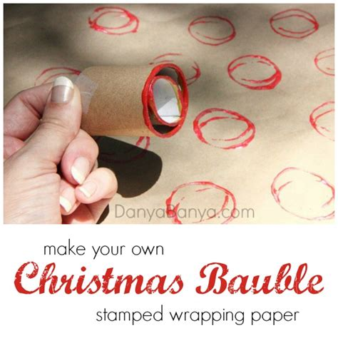 Make Your Own Wrapping Paper - make your own wrapping paper a diy bauble