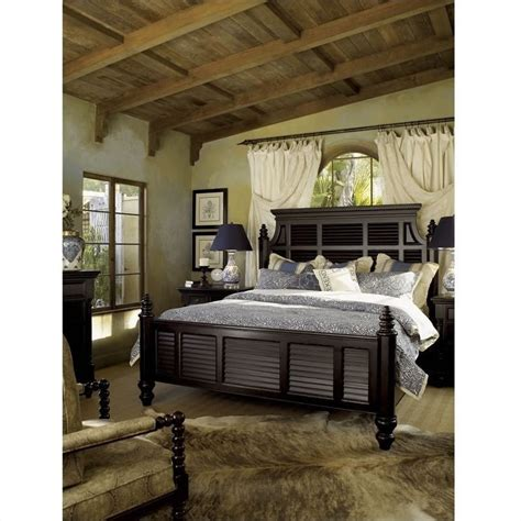 bahama home kingstown malabar wood panel bed 5