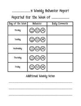 smiley behavior chart template smiley behavior chart smiley behavior chart