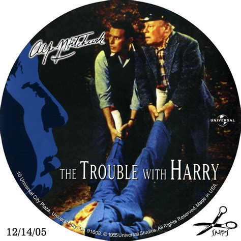 with a the trouble with harry custom dvd labels trouble with harry the dvd covers