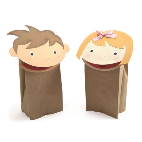 How To Make Puppets With Paper Bags - ellisoneducation boy and paper bag puppets