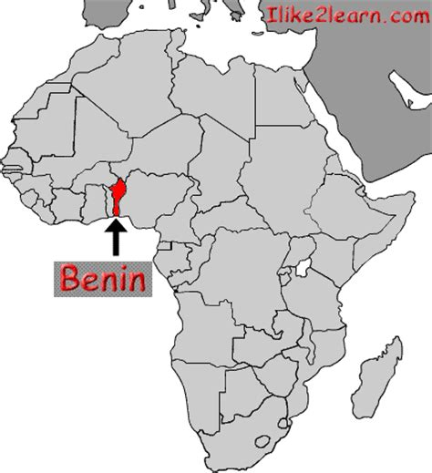 africa map benin benin
