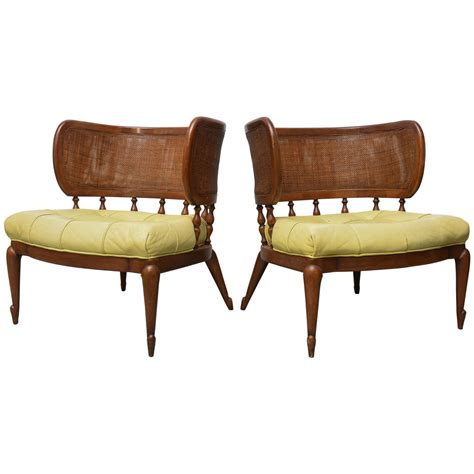 mcm furniture pair of gorgeous mcm caned back barrel chairs 1950s at