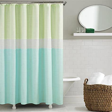 kate spade shower curtains kate spade spring street shower curtain in aqua bed bath