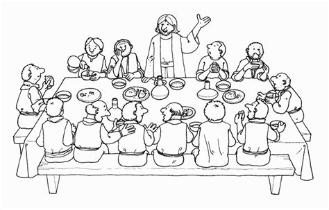 coloring pages jesus last supper last supper coloring page
