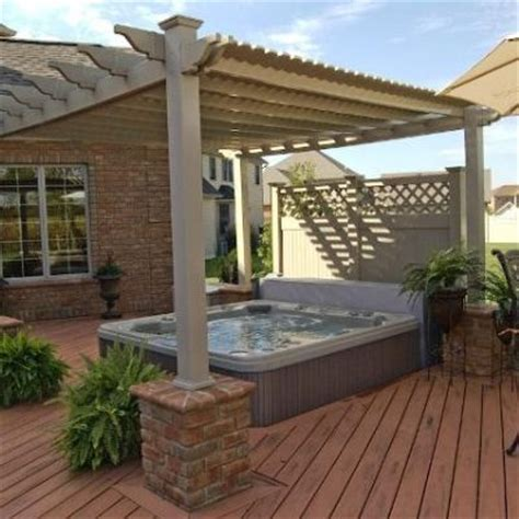 pergola tub pergola design ideas pergola tub most chosen design gray stained finish wooden posts