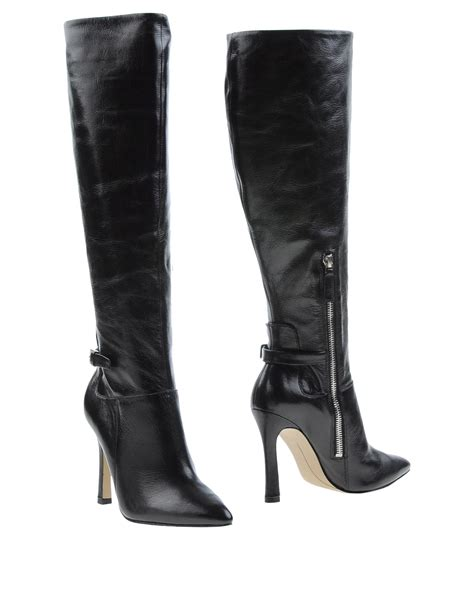 west boots lyst nine west boots in black