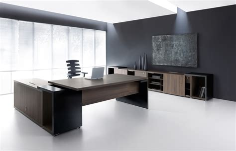 black desk ultra modern executive black desk ambience dor 233