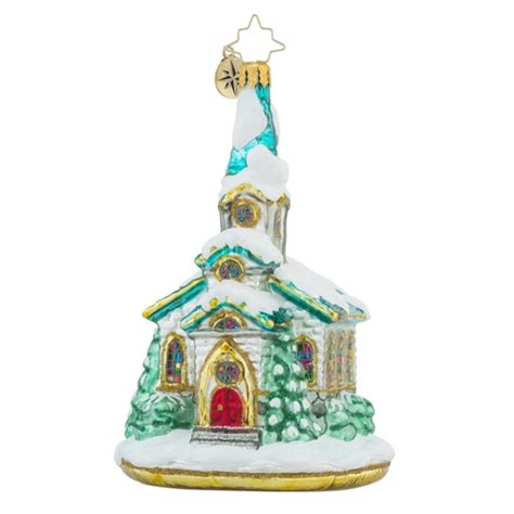 invocation christmas decorations christopher radko ornaments radko pause for prayer church ornament 1018295