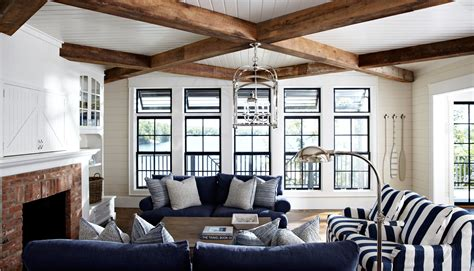 lake house living room rustic cottage interiorscoastal muskoka living interior design ideas