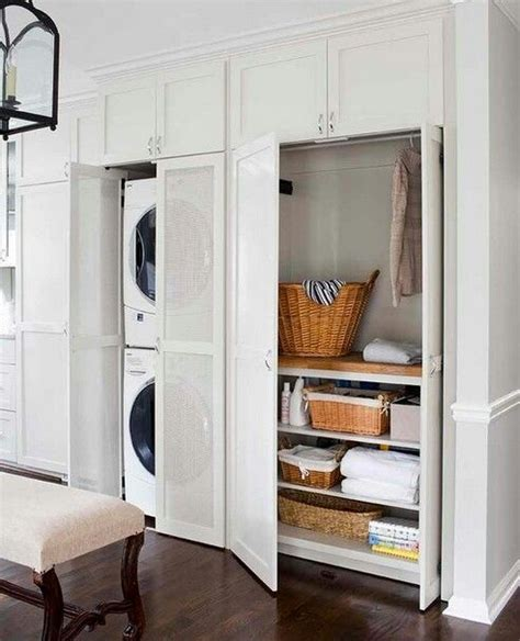 how to hide washer and dryer laundry room doors to hide the washer dryer and baskets