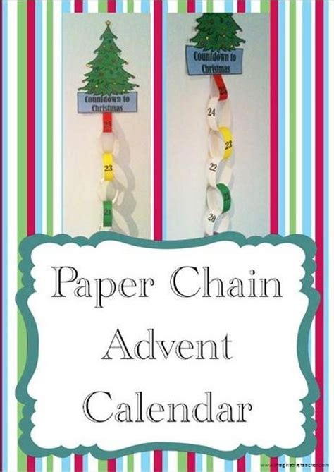 printable advent calendar chain free paper chain christmas advent calendar product from