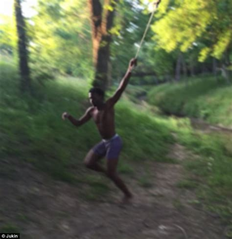 how to build a rope swing into water texas man on a rope swing misses the river and body slams