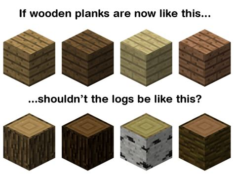suggestion log texture matches wooden planks minecraft