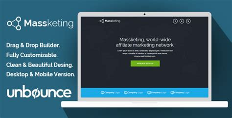 themeforest unbounce massketing unbounce landing page template by demustang