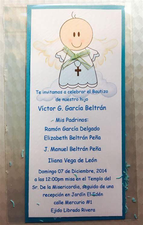 Invitaciones De Bautizo Para Nino by Invitacion De Bautizo Ni 241 O Things Made By Me