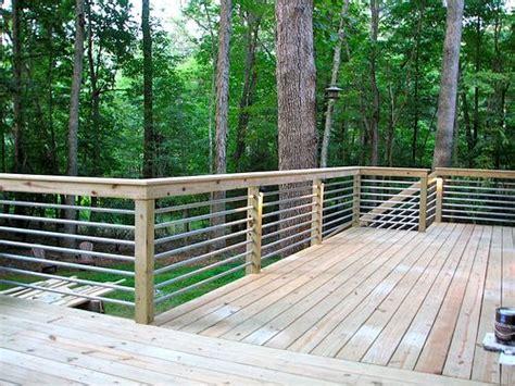 Cheap Handrail Ideas Galvanized Pipe Deck Rail Deck Pinterest Galvanized
