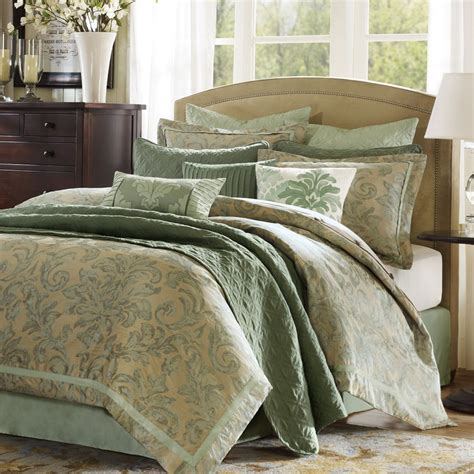 seafoam green comforter set 9pc hton hill new port queen comforter set jacquard