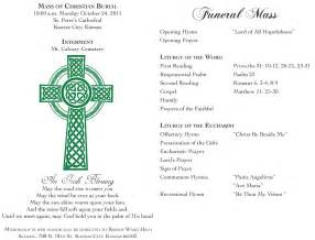 Catholic Funeral Mass Order Of Service Template by Free Funeral Program Templates