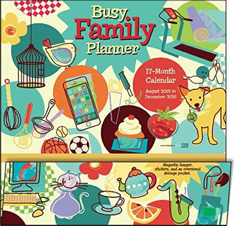 libro month by month a libro busy family planner 17 month 2016 calendar di