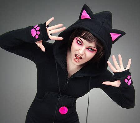 Hoodie Longkitty Black items similar to hoodie black cat pink ears kawaii on etsy