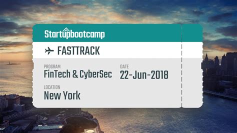 New York Mba Management Fast Track Position by New York U S A Fintech Cybersecurity Fasttrack Event